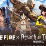 Free Fire y Attack On Titan