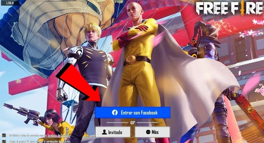free fire y One-punch man